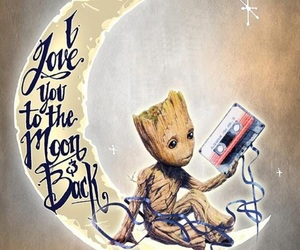 cassette, moon, and groot image