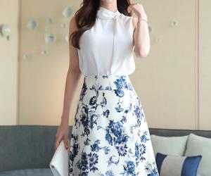 fashion, asian fashion, and flower image