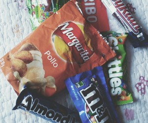 food, snacks, and m&m's image