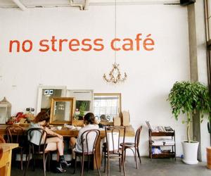 cafe, vintage, and stress image