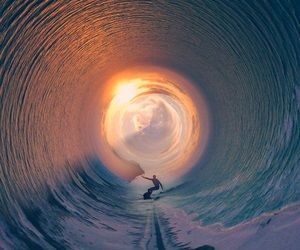 sea, surfing, and waves image