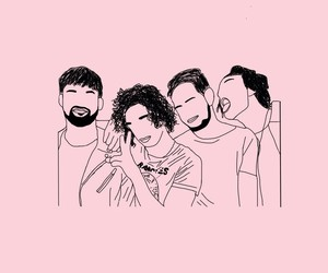 outline, pink, and the 1975 image