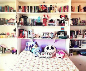 bed, blogger, and books image