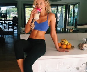 fitness, blonde, and body image