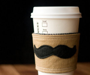 coffee, starbucks, and mustache image