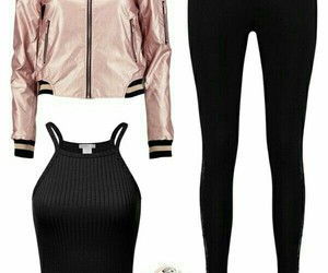 black, outfits, and tenis image