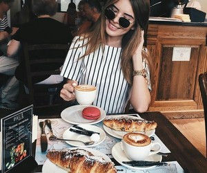 fashion, girl, and food image