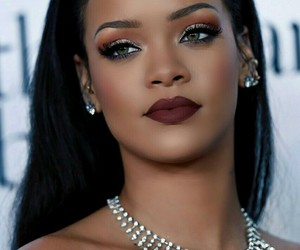 rihanna, makeup, and beauty image