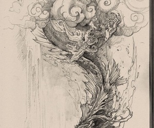 art, creature, and dragon image