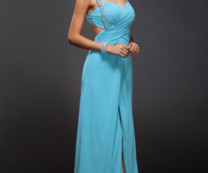 robe longue and turquoise image