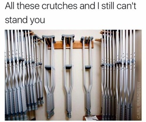 funny, lol, and crutches image