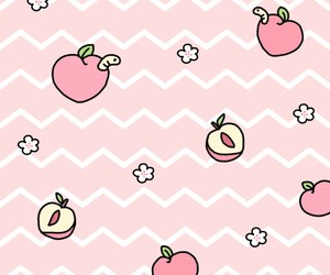 wallpaper, pattern, and peach image