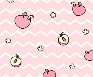 wallpaper, peach, and kawaii image