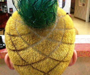 pineapple, hair, and funny image