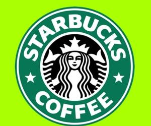 coffee, green, and starbucks image