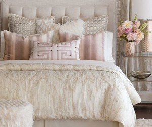 bed, decoration, and elegance image