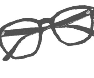 glasses, drawing, and nerd image