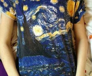 artistic, blue, and van gogh image