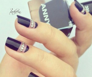 black, transparency, and nails image