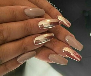 nails, style, and gold image