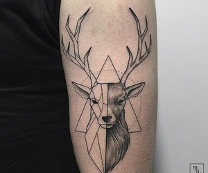 tattoo, deer, and ink image