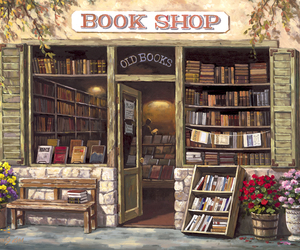 book, book shop, and bookstore image