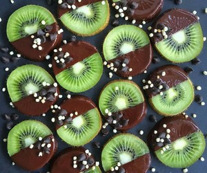 food, fruit, and kiwi image
