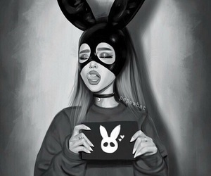 art and ariana grande image