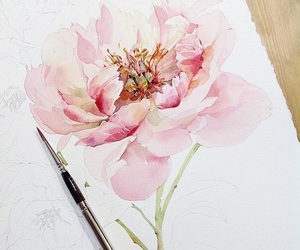 art and peonies image