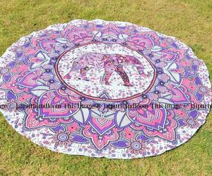 dorm room tapestry, mandala roundie, and mandala yoga mat image