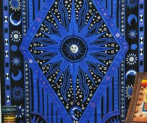 psychedelic tapestry, sun and moon tapestry, and bohemian tapestry image