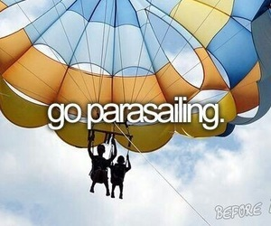 parasailing, bucket list, and before i die image