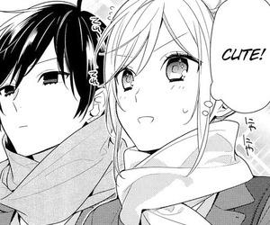 manga, monochrome, and horimiya image