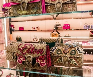 bags, gucci, and fashion image