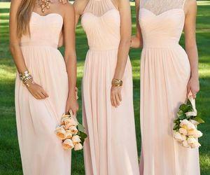 dress, wedding, and bridesmaid image