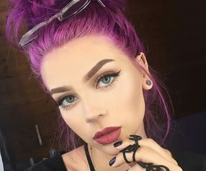 purple, beauty, and girl image