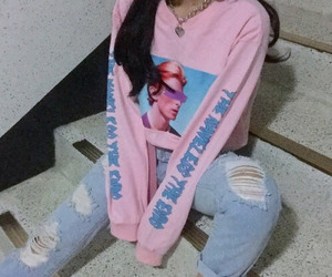 pink, korean, and style image