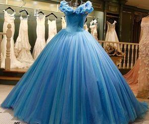 blue, cinderella, and dress image