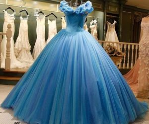 blue, cinderella, and dress image