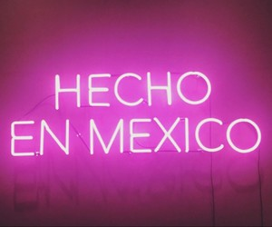 pink, neon, and méxico image