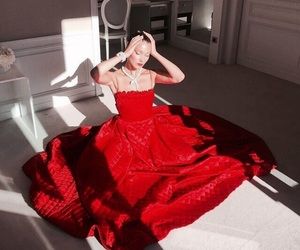 bella hadid, model, and red image