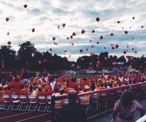 graduation and red image