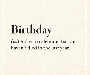 birthday, funny, and quotes image