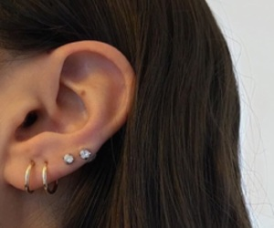 piercing, ear, and girl image