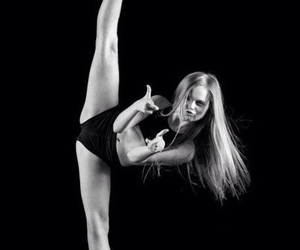 black and white, flexible, and talent image