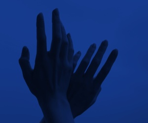 blue, hands, and glow image
