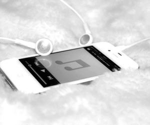 music, iphone, and white image
