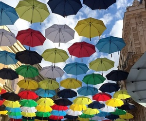 colorful, colors, and umbrellas image