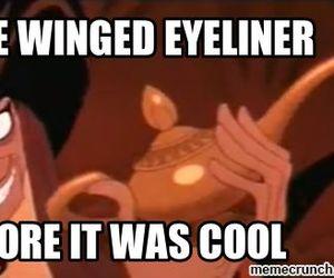 disney, lol, and eyeliner image