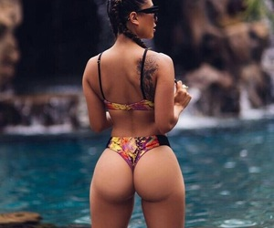 ass, beach, and booty image